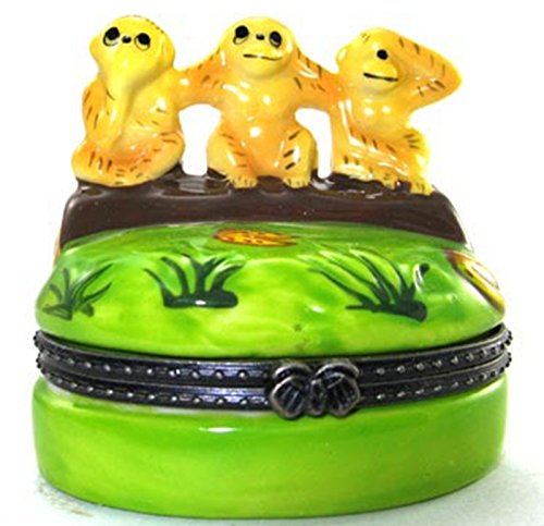 Art Gifts See No Evil Monkies Monkeys Trinket Box phb