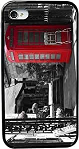 Rikki KnightTM British Phone Booth Design iPhone 5 & 5s Case Cover (Black Rubber with bumper protection) for Apple iPhone 5 & 5s