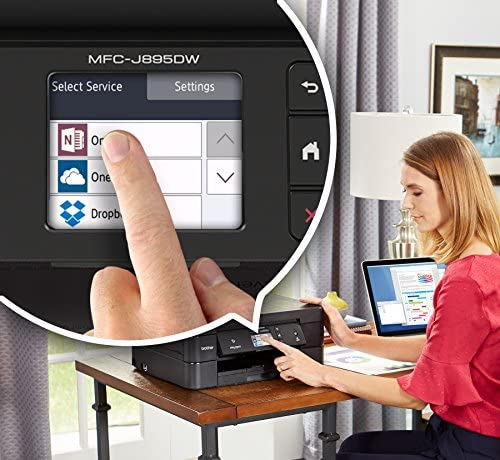 Brother Wireless All-In-One Inkjet Printer, MFC-J895DW, Multi-Function Color Printer, Duplex Printing, NFC One Touch to Connect Mobile Printing, Amazon Dash Replenishment Enabled 51YCJkgB4jL