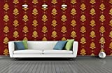 BDPP Washable Vinyl Coated Imported Mettalic Wallpaper-W589(Covers approximately 50 square. Feet.)
