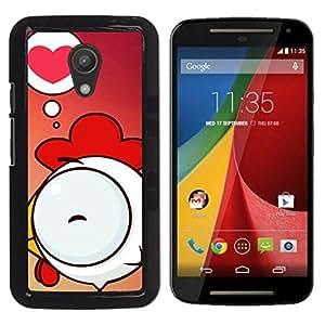 Be Good Phone Accessory // Dura Cáscara cubierta Protectora Caso Carcasa Funda de Protección para Motorola MOTO G 2ND GEN II // Cute Chicken Love