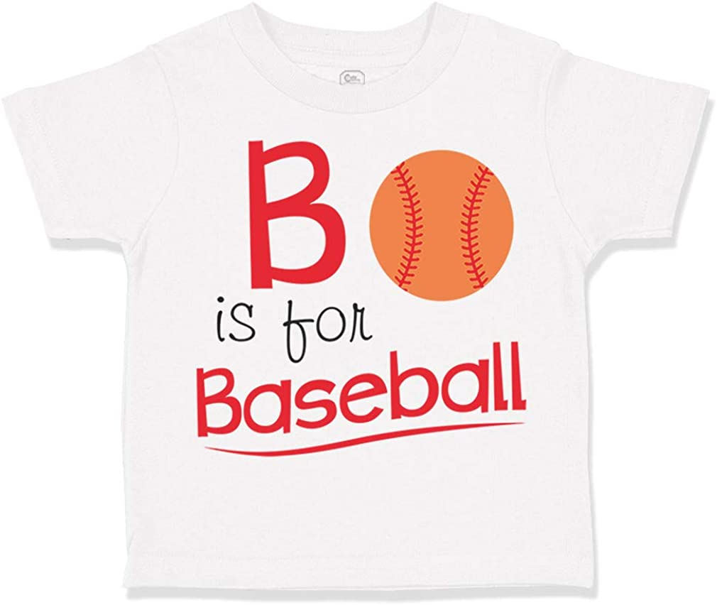 Custom Toddler T-Shirt B is for Baseball Style1 Ball Game Boy /& Girl Clothes