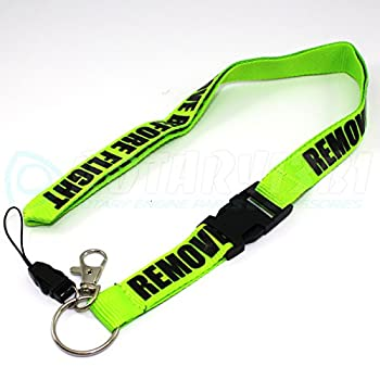 Remove Before Flight Lanyard - Lime Green/Black - by Rotary13B1