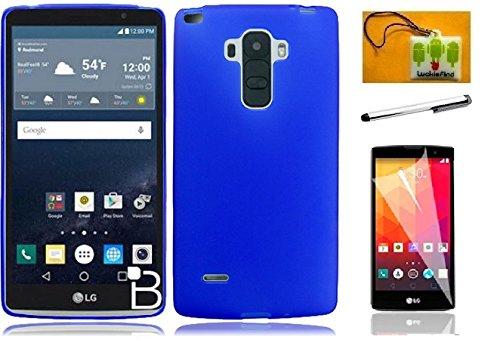 Lg Blue Phone Faceplates (LG G Stylus / LG G Stylo / LG LS770 (T-Mobile/Boost Mobile/Sprint), LF 4 in 1 Bundle, TPU Flexible Soft Gel Cover Case, Stylus Pen, Screen Protector & Wiper Accessories (TPU Blue))