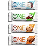 EINE Protein Bar, Best Sellers Variety Pack, 12-Pack, Gluten-Free, High Protein, Low Sugar, Includes Birthday Cake, Almond Bliss, Maple Glazed Doughnut & Peanut Butter Pie (Packaging May Vary)