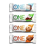 ONE Protein Bar, Best Sellers, 12-Pack, Gluten-Free, High Protein, Low Sugar, Includes Birthday Cake, Almond Bliss, Maple Glazed Doughnut, Peanut Butter Pie (Packaging May Vary)