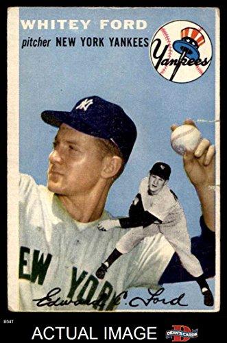 1954 Topps # 37 Whitey Ford New York Yankees (Baseball Card) Dean's Cards 1.5 - FAIR Yankees (Whitey Baseball Ford)