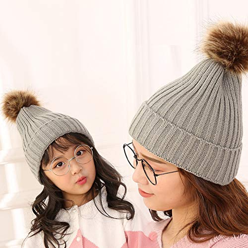 f773378a8 2 PCS Parent-Child Hat Warmer,Mother & Baby Boys/Girls Family Match ...