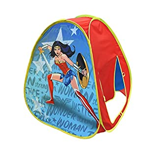Sunny Days Entertainment Wonder Woman Pop Up Play Tent – Indoor Playhouse for Kids   DC Gift for Boys and Girls
