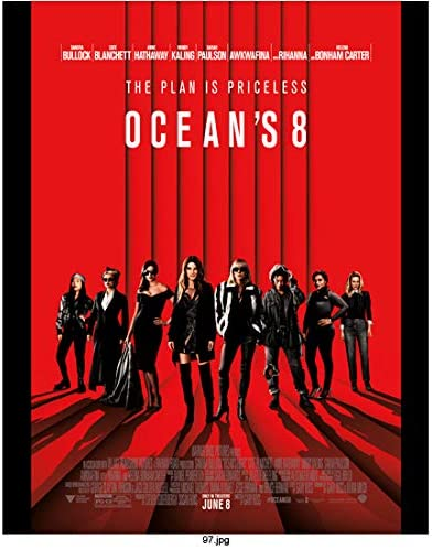 Ocean S Eight 2018 8 Inch By 10 Inch Photograph Sandra Bullock Cast Full Body In Front Of Red Black Stripes The Plan Is Priceless Title Kn At Amazon S Entertainment Collectibles Store