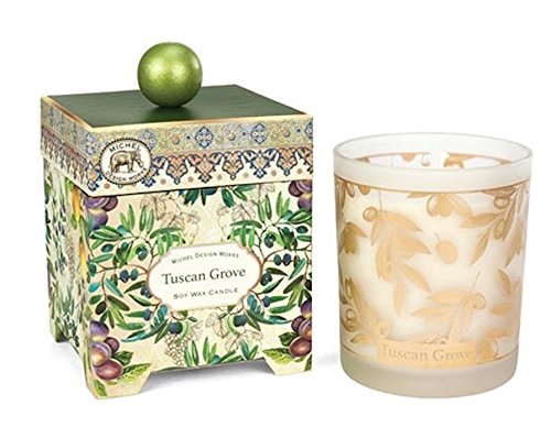 (Michel Design Works Gift Boxed Large Soy Wax Candle, 14-Ounce, Tuscan Grove, 14 oz, )