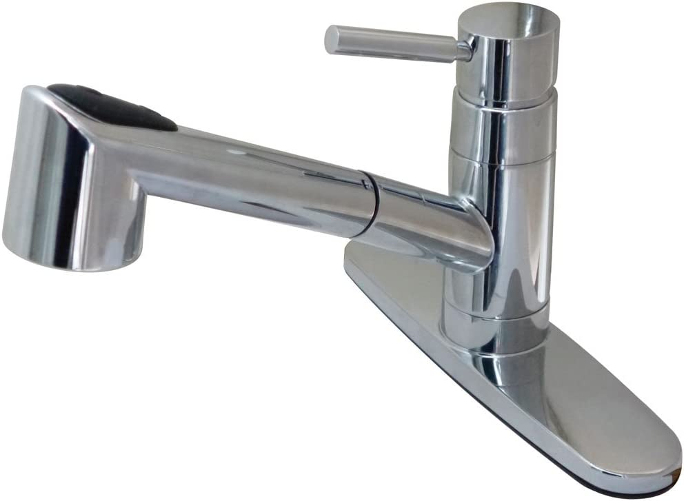 Kingston Brass Gourmetier GS8571WDL Wilshire Low Lead Compliant Single Handle Kitchen Faucet, Polished Chrome