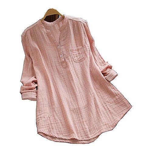 Casual Frauen beiläufige lose Tunika T Shirt Bluse Damen Langarmshirt Oberteile