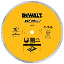 DEWALT DW4762 10-Inch Wet Cutting Continuous Rim Saw Blade with 5/8-Inch Arbor for Porcelain or Tile