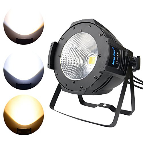 DJ Spot Follow Stage Light, 100W COB Warm and Cool White PAR Lighting,DMX Stage Spotlight Sound Activated,Master-slave, Auto Running for DJ Disco Club Party Wedding Stage Effect Lighting