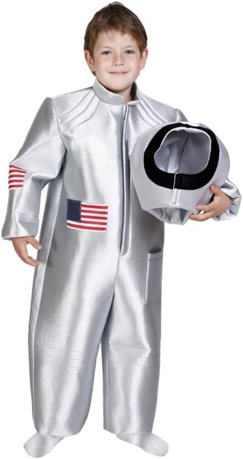 Astronauta Disfraz Plata para niños – Crédito espacial Disfraz ...