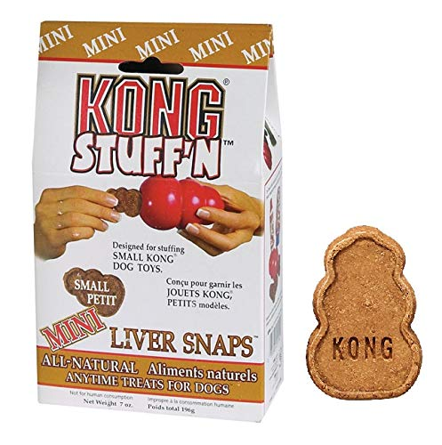 Snaps Liver Mini (Stuff'N Snaps Small Dog Toy Filler Treats Liver Flavored Mini Biscuits 7 oz Bag)