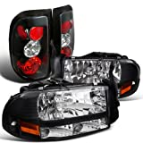 Dodge Dakota Black Crystal Headlights, Altezza Tail Lamps