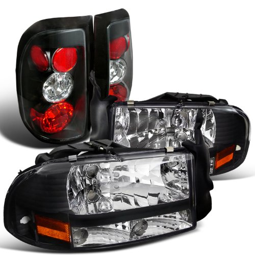 Dodge Dakota Corner Light - Spec-D Tuning LT2LH-DAK97JM-ABM Headlight Tail Light (Dakota Black Crystal Lamp)