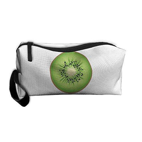 (Portable Make-up Receive Bag Kiwi Fruit Travel&home Storage Bag Zipper Organization Space Saver Canvas Buggy)