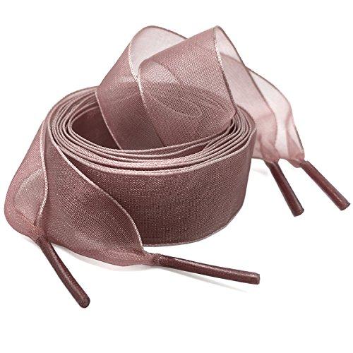 - Flat Snow Yarn Shoelaces Brown Pink for Women WEGOODZF 2cm Wide Shoe Laces Girls[2 Pair 43.31