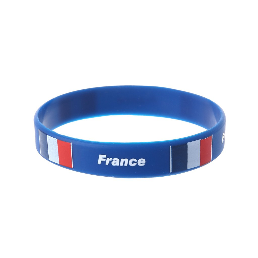 shaoge 2018ロシアワールドカップサッカーファンブレスレットチアリーディングシリコンリストバンド国旗2018 Cheer製品 B07CHFFLQF フランス フランス