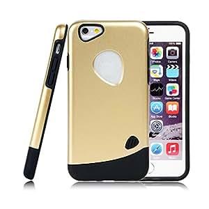 6 para Iphone caso combinado híbrido duro de la cubierta a prueba de golpes tono Oro