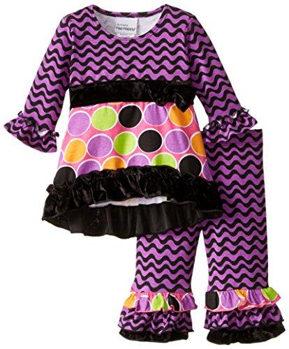 Flap Happy Dots (Flap Happy Baby Girls' Mini Miranda Set With Dress & Ruffle Pant, Sugar Dots, 9 Months)