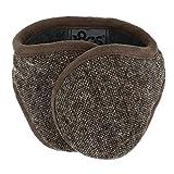 180s Men's American Wool Behind The Head Ear Warmer (Brown Tweed)