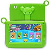 Newest Kids Android 4.4 7 Inch Tablet PC Ounice Camera Quad Core HD Wifi 7 Android Tablet for Children (Green)