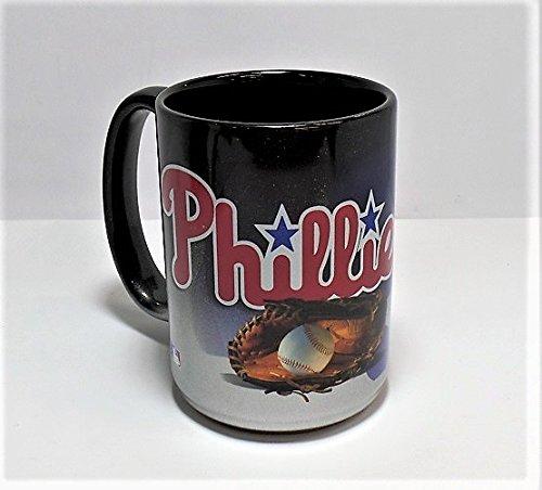 (Philadelphia Phillies 15oz. Coffee Mug - Black/Chrome)