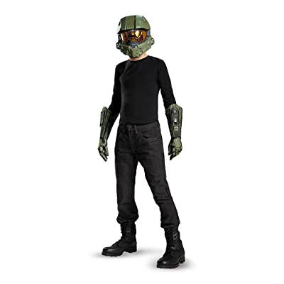 Master Chief Child Mask and Gloves Costume Kit: Toys & Games