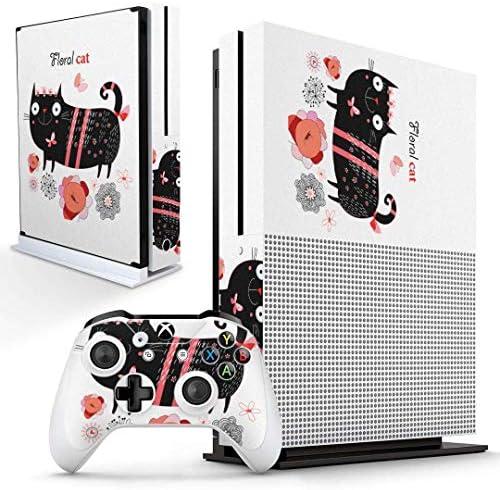 igsticker Xbox One S 専用 スキンシール 正面・天面・底面・コントローラー 全面セット エックスボックス シール 保護 フィルム ステッカー 007727