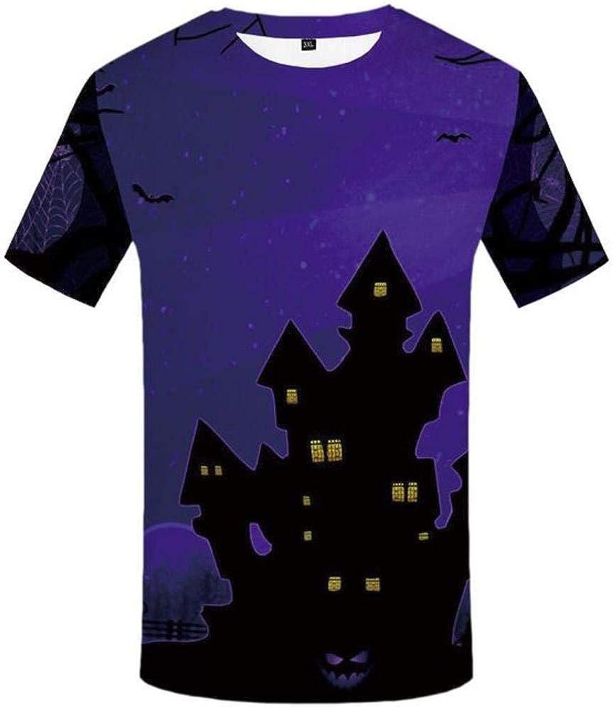 ShAwng Camisetas psicodélicas 3D Hombres Camiseta de Halloween Imprimir Camiseta 3D Camiseta de Calabaza de Fuego Divertido Anime Ropa de Hombre Casual Verano: Amazon.es: Ropa y accesorios