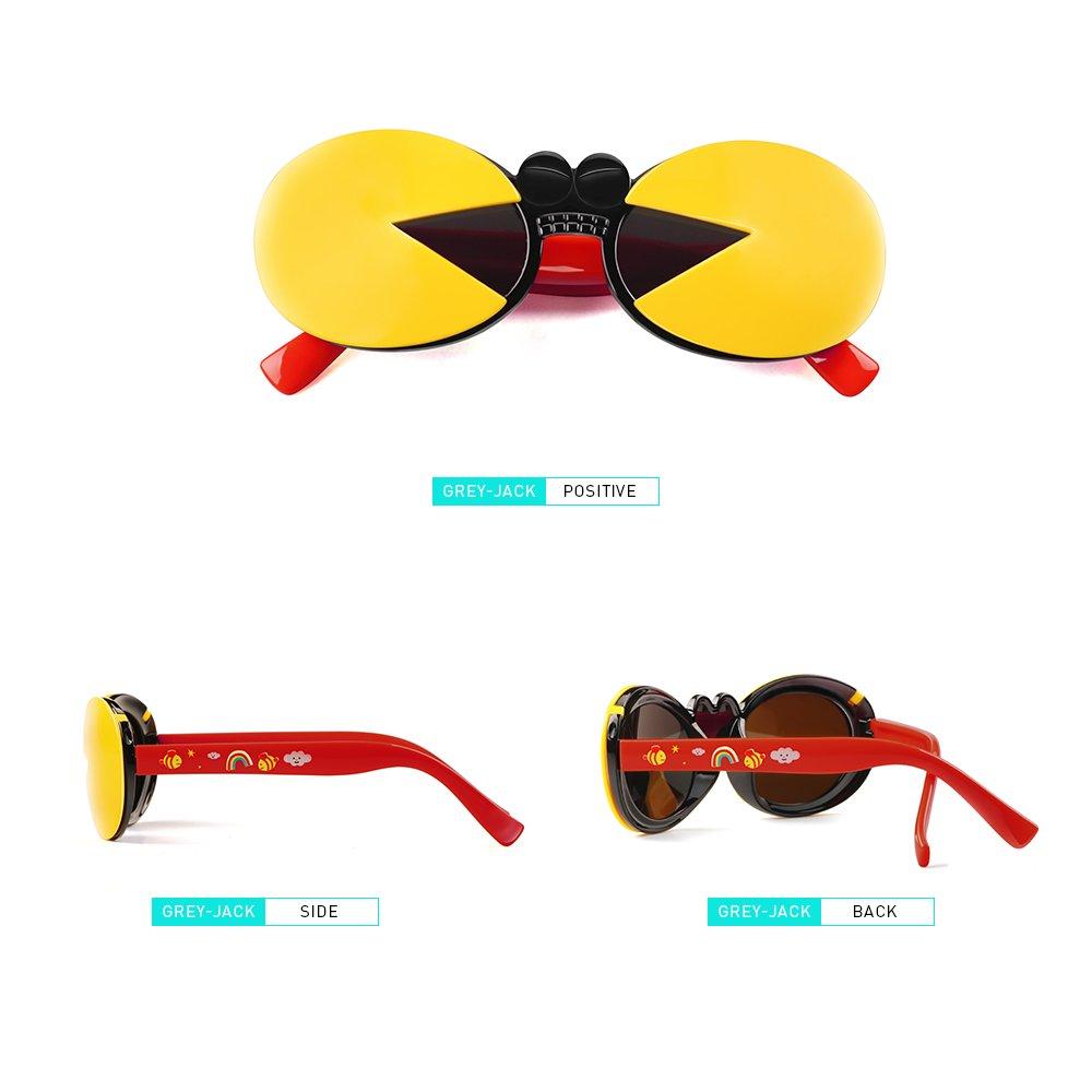 Gris Jack cangrejo forma con tapa polarizadas gafas de sol para niños de 3 - 9 años, Rojo: Amazon.es: Deportes y aire libre