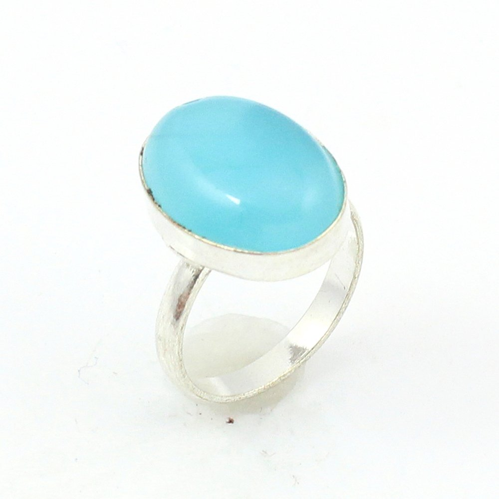 silverjewelgems Chalcedony Fashion Jewelry .925 Silver Plated Ring S12633