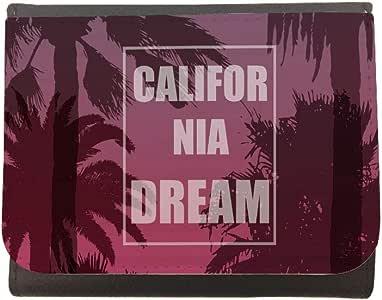 محفظة جلد california dreem بتصميم نخيل، مقاس 12cm X 10cm