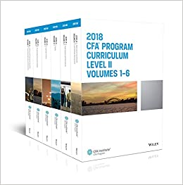 CFA Program Curriculum 2018 Level II: Volumes 1 – 6 Box Set (CFA Curriculum 2018) 9781944250577 CFA Exam at amazon