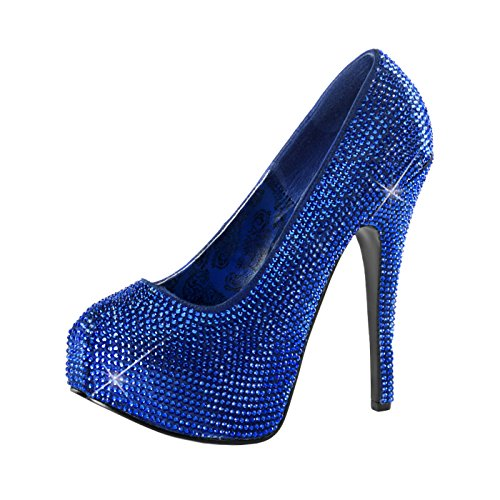 Bordello - The Ulitimate Seduction Strass Plateau Pumps Teeze-06R