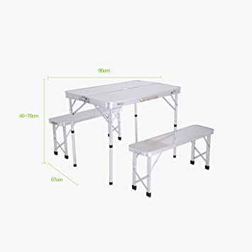mesa plegable Feifei Sillas Picnic Portable Camping Dining Patio ...