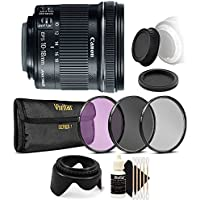 Canon EF-S 10-18mm f/4.5-5.6 IS STM Lens with Lens Filter and Accessory Bundle