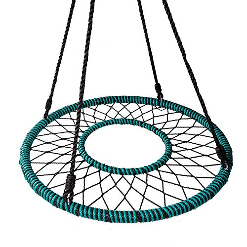 - Play Platoon Spider Web Tree Swing with Open Center - Fully Assembled Tire Swing, 40 Inch Diameter, 600 lb Weight Capacity, Easy to Install