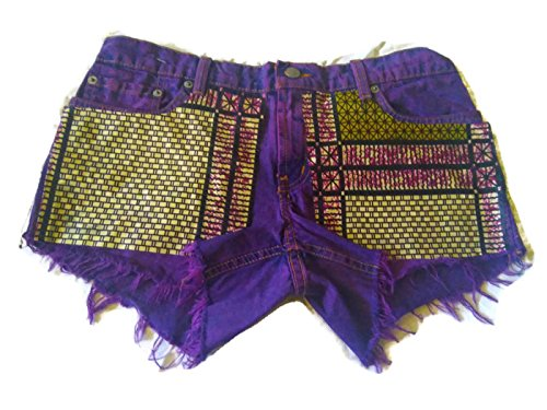 Custom Denim Fray Polo Ralph Lauren Shorts Kente 7/8