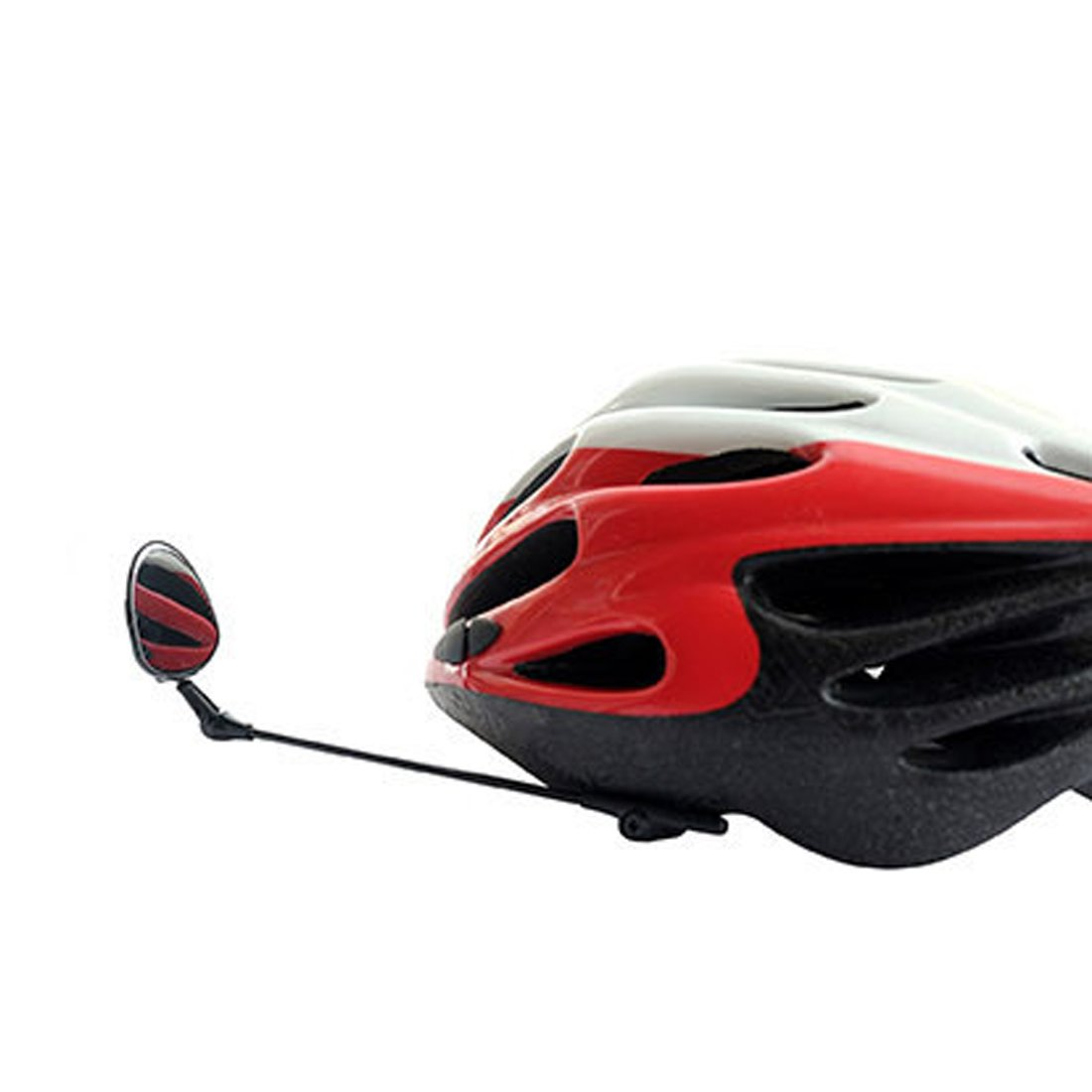 ZENUTA Espejo retrovisor para bicicleta giratorio 360° Espejo para casco espejo ajustable con buena visibilidad para bicicleta y moto