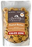 Bandit's Biscuits All Natural Grain Free Healthy Peanut Butter Large Dog Treats, 26 oz Bulk Dog Biscuits Made in The USA