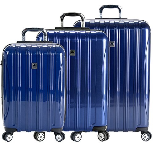 Price comparison product image Delsey Luggage Helium Aero 3 Piece Spinner Luggage Set (One Size, Blue)
