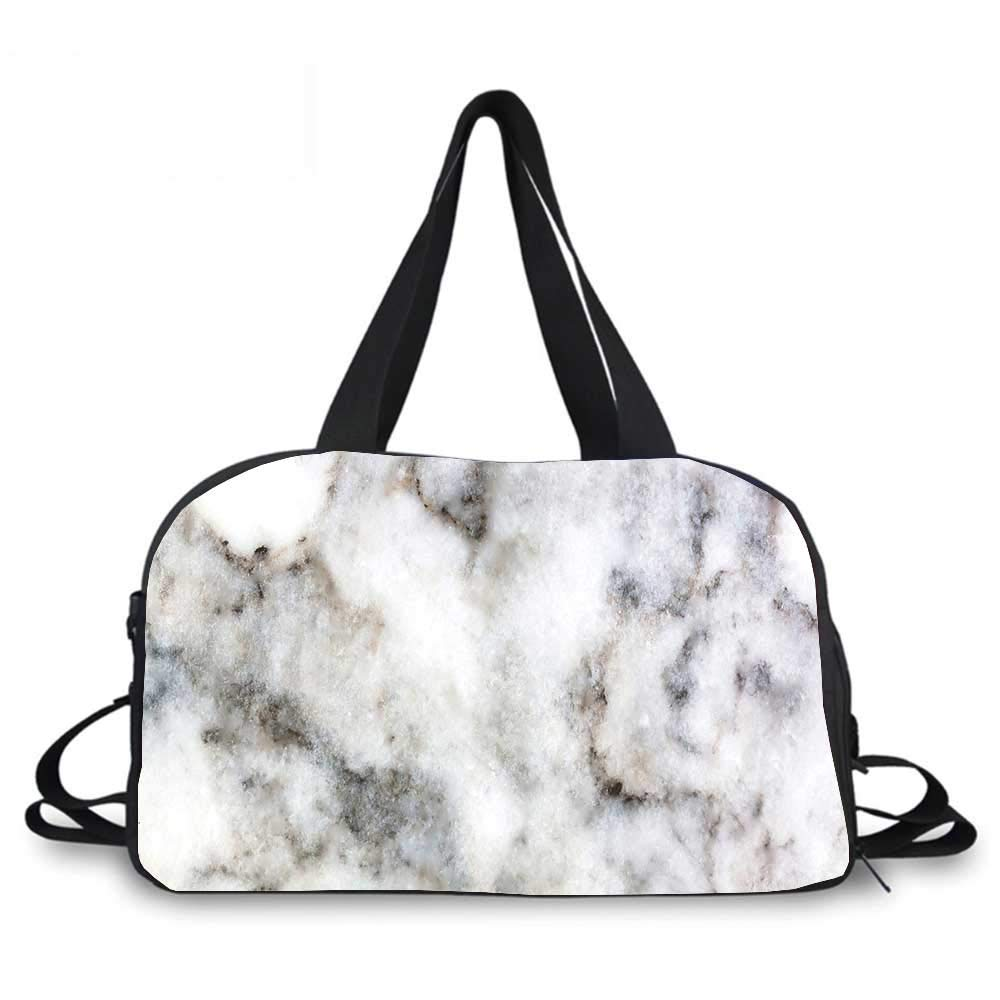 Marble Personality Travel Bag,Rock Pattern Limestone with Stain Traces Surface Artistic Authentic Design for Travel Airport,One_Size