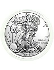 2018 - 1 Ounce American Silver Eagle FREE Plastic Protective Holder .999 Fine Silver Dollar Uncirculated Us Mint