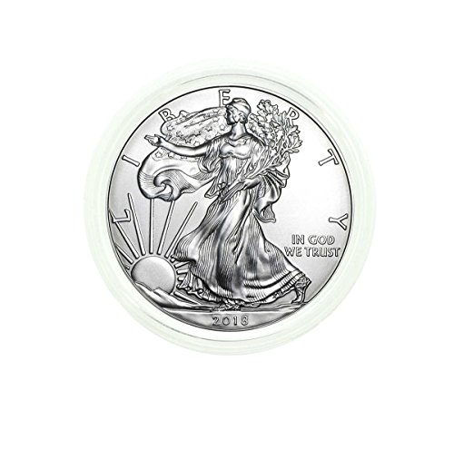2018 1 Ounce American Silver Eagle Plastic Protective Holder .999 Fine Silver Dollar Uncirculated Us Mint