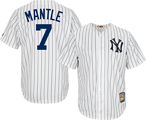 Mickey Mantle New York Yankees White Youth Cool Base Cooperstown Home Replica Jersey (X-Large 18/20)